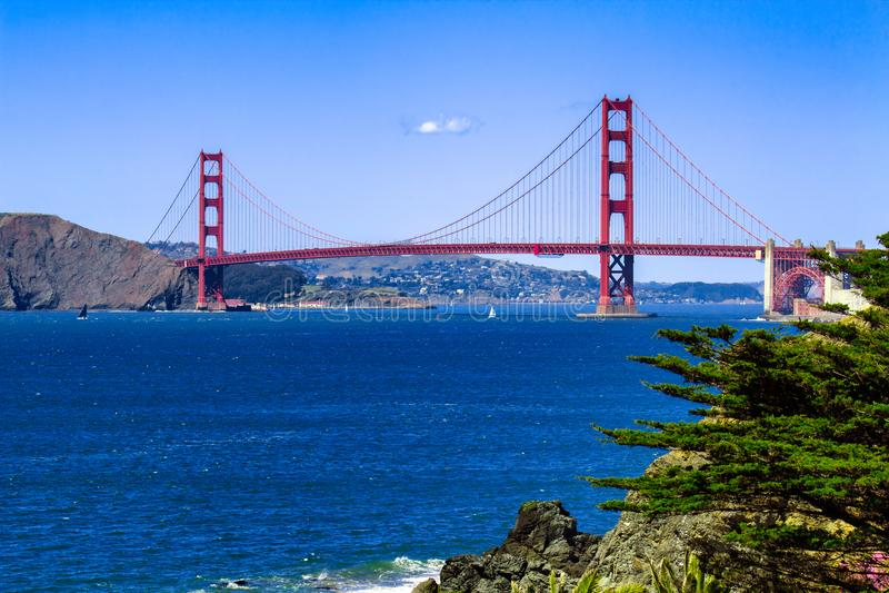 Złoci Wrota Most, San Fransisco, CA obrazy stock