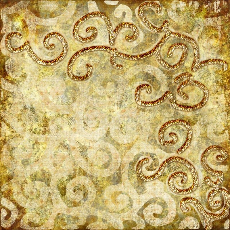 złoci wzory ilustracja wektor