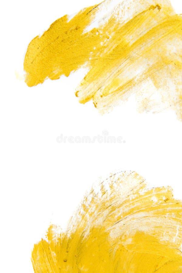 Złocista akwareli tekstury farby plamy abstrakta ilustracja Olśniewający szczotkarski uderzenie dla ciebie zadziwiający projekta  obraz royalty free