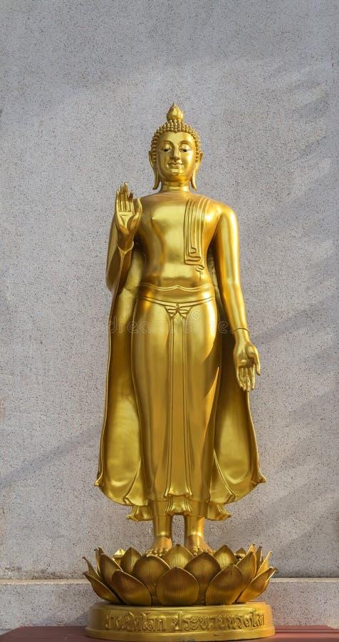 Złocista Buddha statua obraz royalty free