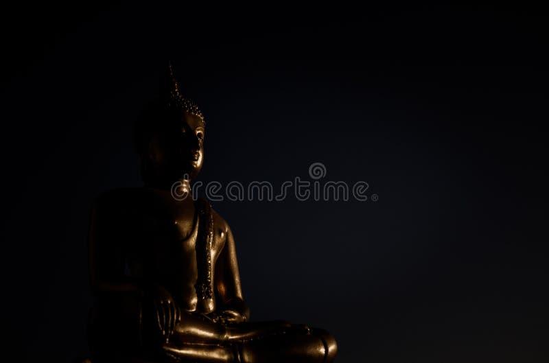 Złocista Buddha statua obraz stock