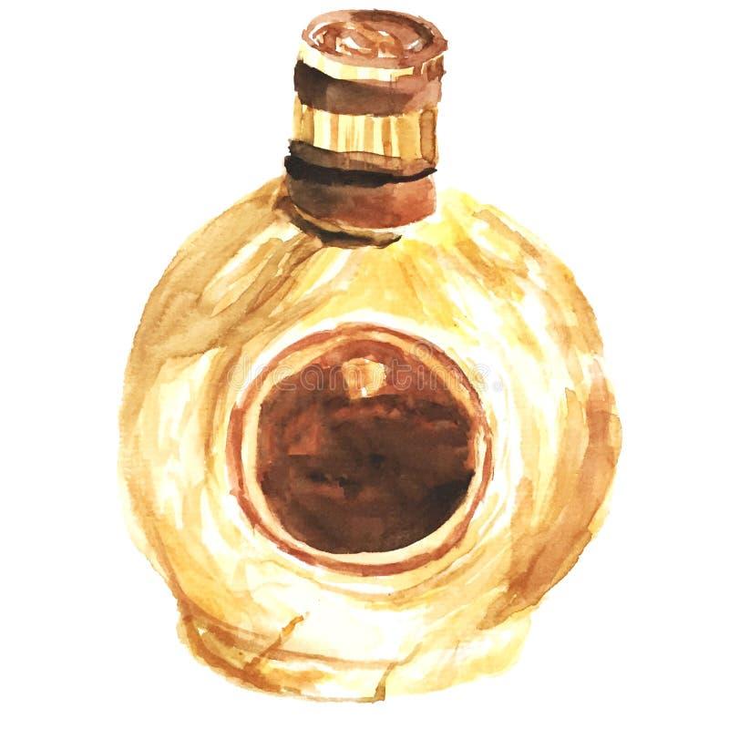 Złocista czekoladowa trunek akwareli ilustracja ilustracja wektor