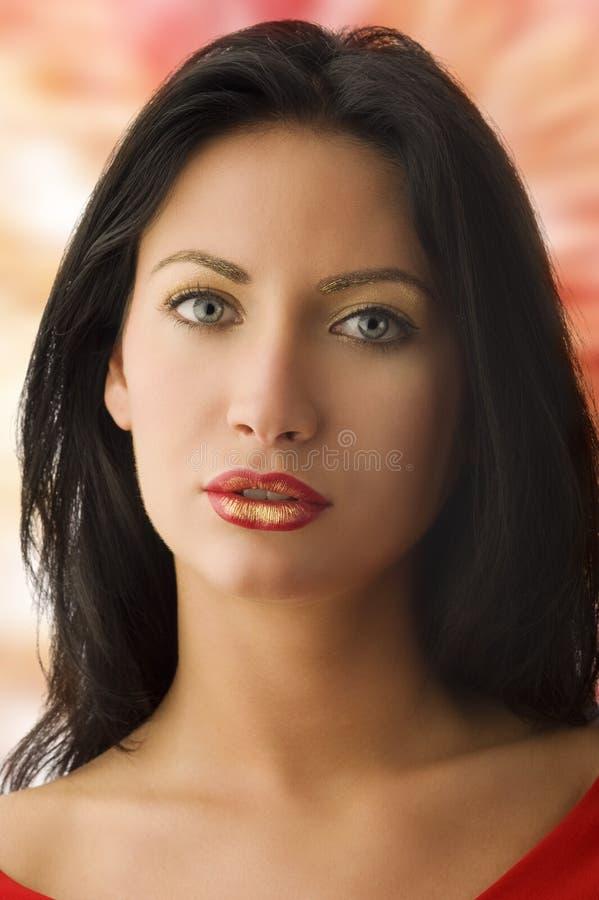 złocista czerwona kobieta zdjęcia royalty free