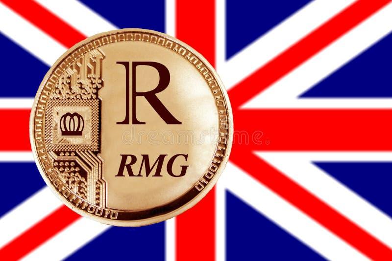 Złocista moneta RMG obrazy royalty free