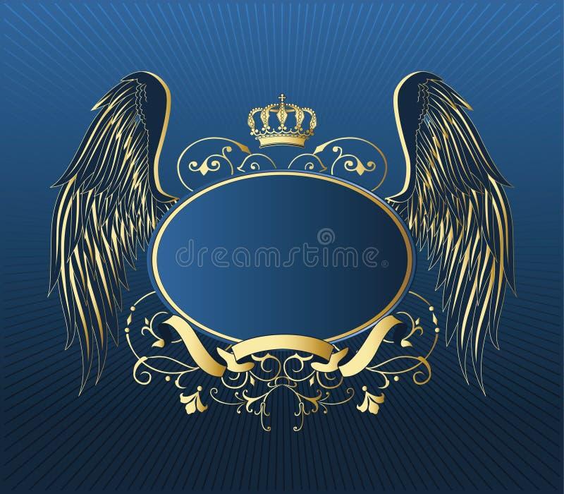 złocista retro osłona royalty ilustracja