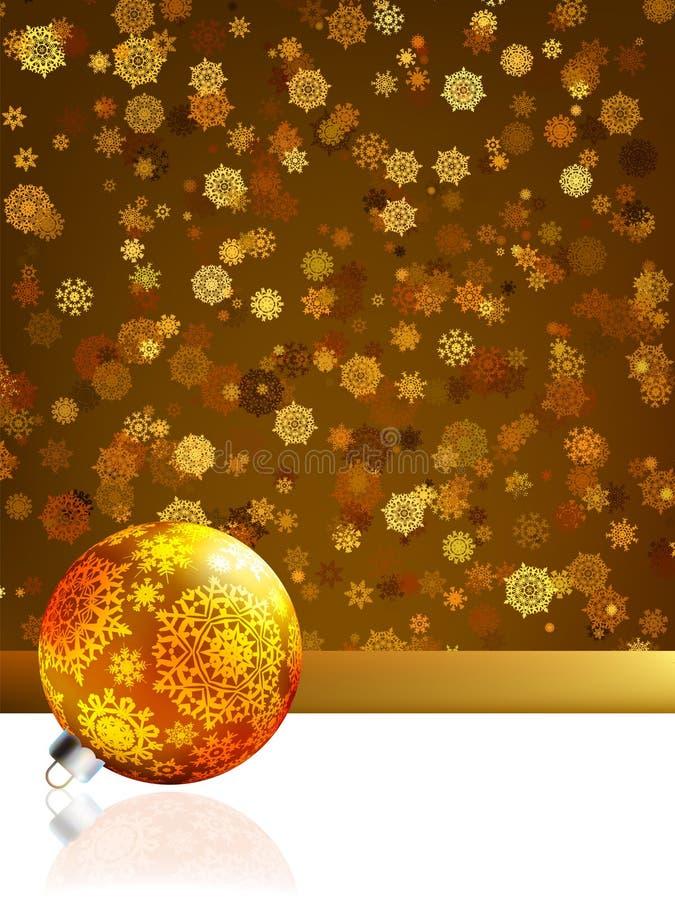 Złocista szczęśliwa Kartka bożonarodzeniowa, zima tło. EPS 8 royalty ilustracja
