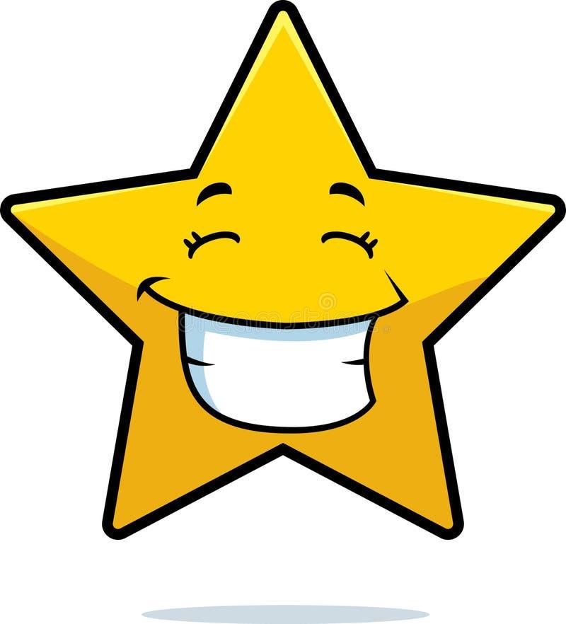 złocista uśmiechnięta gwiazda ilustracji