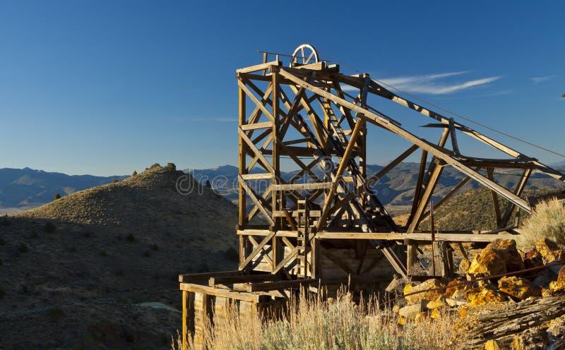 Złocista wzgórze kopalnia obraz stock