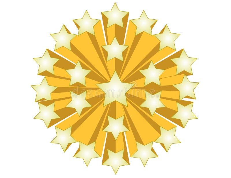 złociste gwiazdy ilustracja wektor