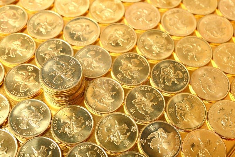Złociste monety obrazy stock