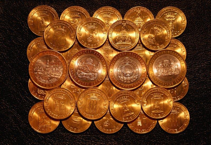 Złociste monety zdjęcie stock