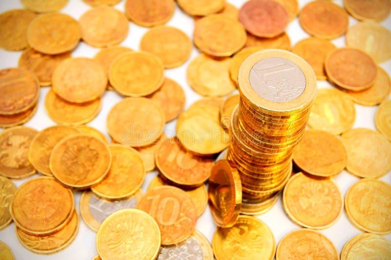 Złociste monety. obraz stock
