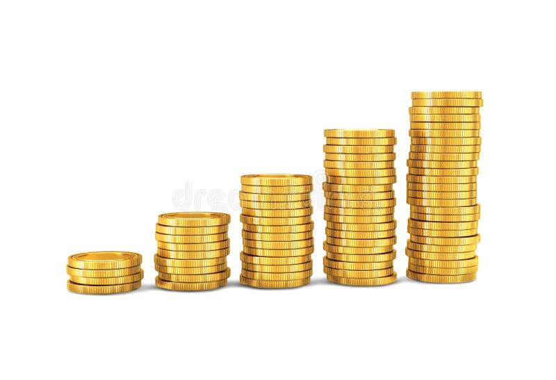 Złociste monety ilustracja wektor
