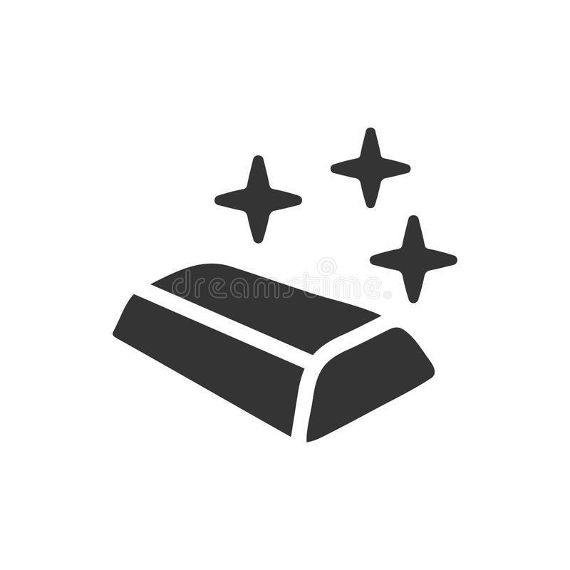 Złocistego baru ikona ilustracja wektor