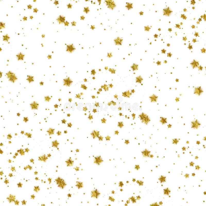 Złocistej gwiazdy Faux folii Kruszcowy Gwiazdowy Biały tło obraz royalty free