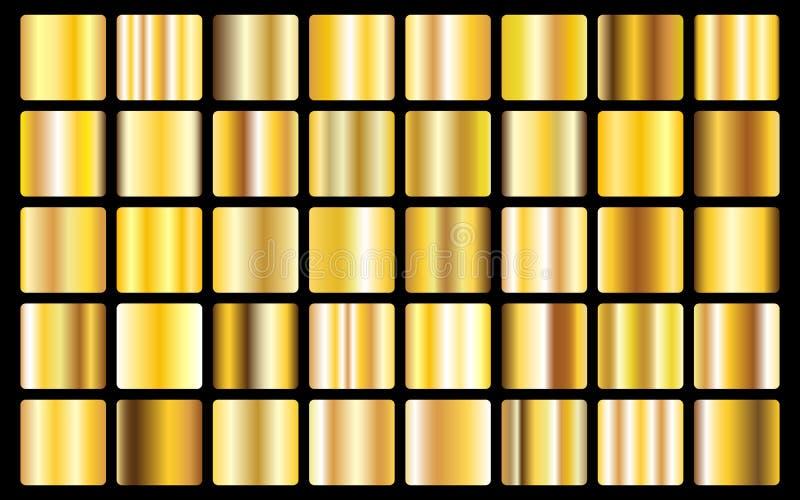 Złocistej tło tekstury wektorowej ikony bezszwowy wzór Światła, realistycznej, eleganckiej, błyszczącej, kruszcowej i złotej grad ilustracja wektor