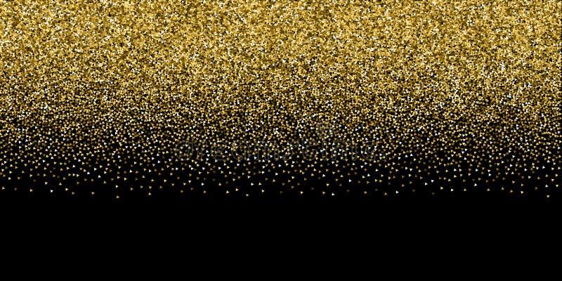 Złocistej trójbok błyskotliwości luksusowi iskrzaści confetti royalty ilustracja