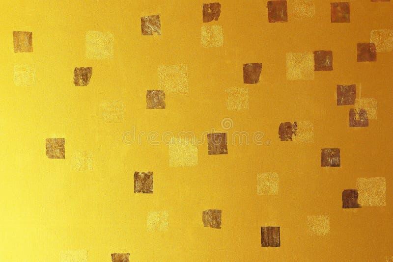 Złocisty abstrakcjonistyczny tło lub tekstura obraz stock