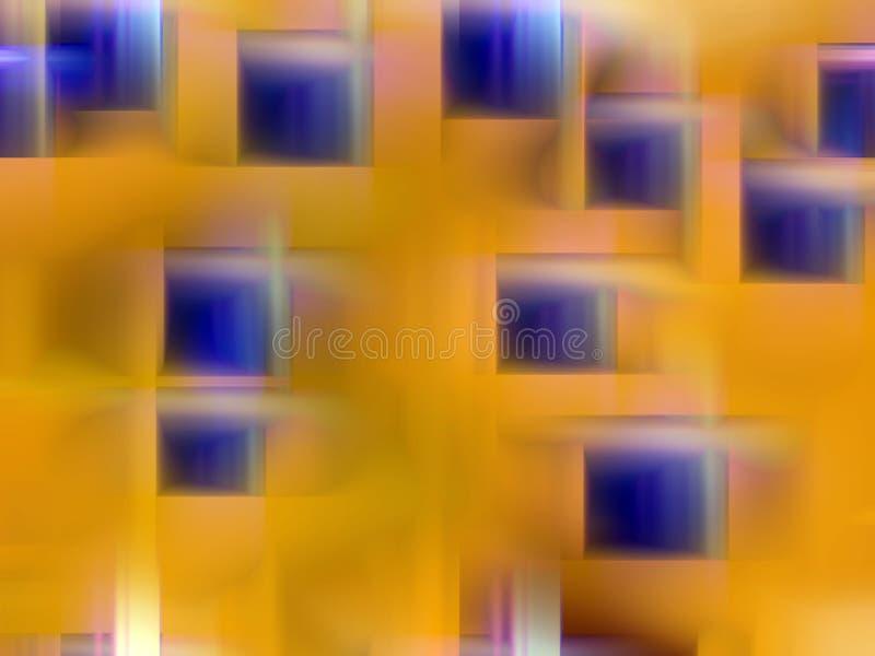 Złocisty błękit zaświeca tło, grafika, abstrakcjonistycznego tło i teksturę, royalty ilustracja