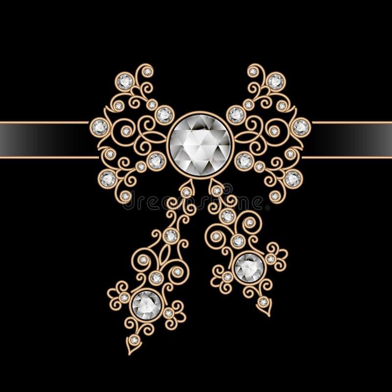 Złocisty biżuteria łęk ilustracji