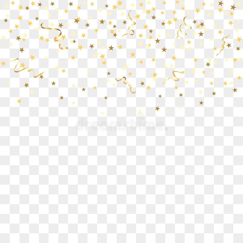 Złocisty confetti tło zdjęcie stock