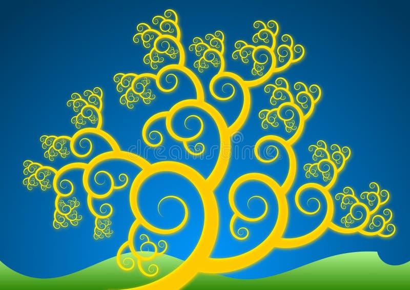 złocisty drzewo zdjęcie stock