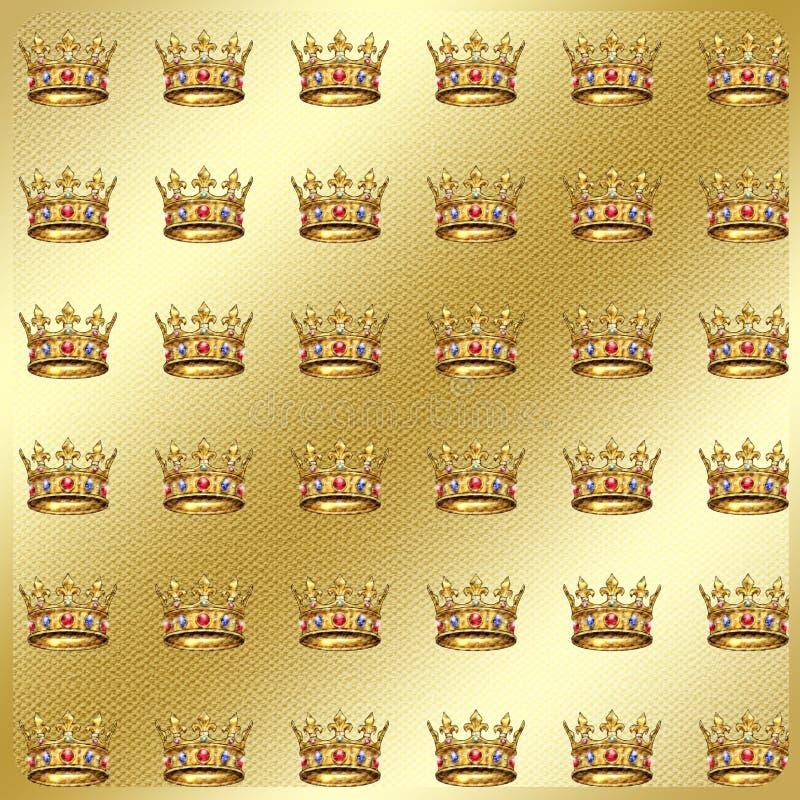 Złocisty geometryczny tkanina wzór royalty ilustracja
