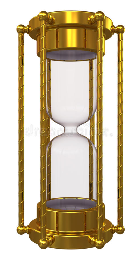 złocisty hourglass żadny piasek ilustracja wektor