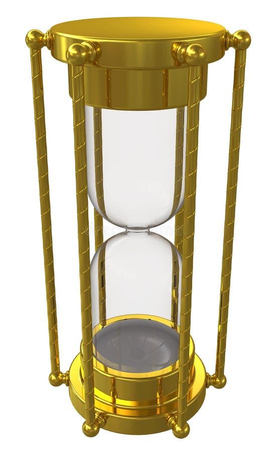 złocisty hourglass royalty ilustracja