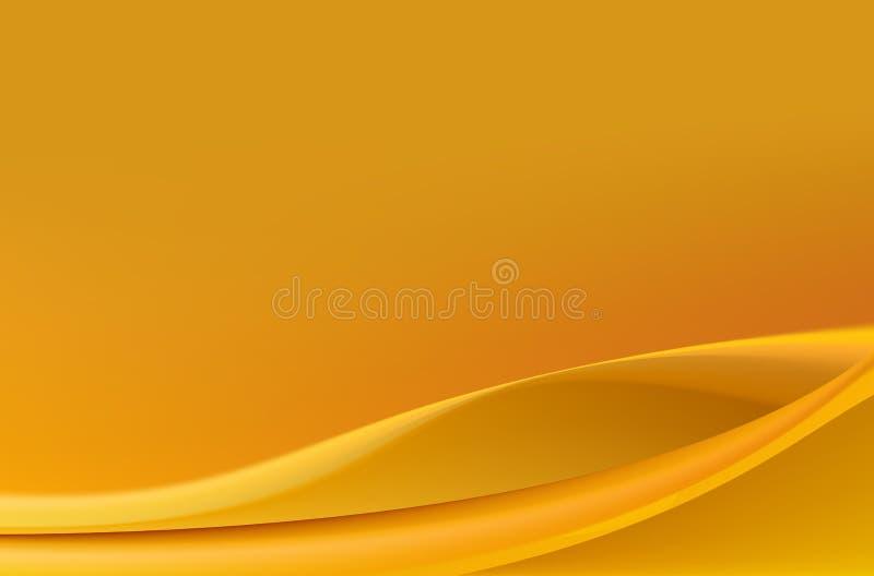 Złocisty jedwabniczy tło z niektóre miękkimi fałdami fotografia stock