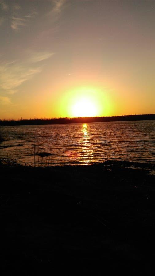 Złocisty jezioro zdjęcie stock