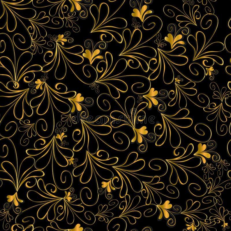 Złocisty kwiecisty wzór obrazy royalty free