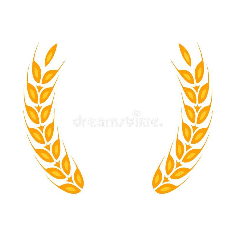 Złocisty laurowy wianek - symbol zwycięzca royalty ilustracja