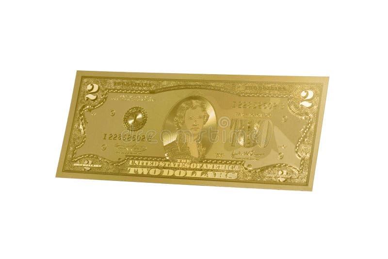 złocisty pieniądze fotografia stock
