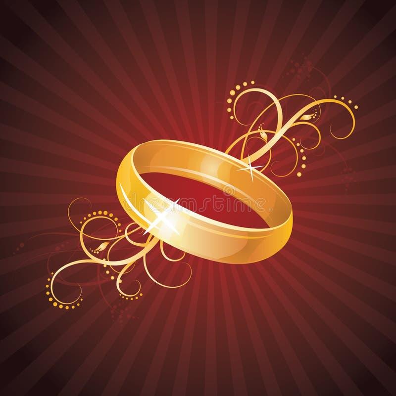 złocisty pierścionek ilustracji