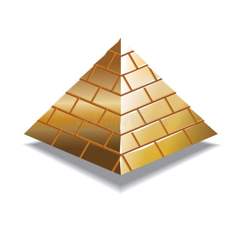 złocisty piramid royalty ilustracja