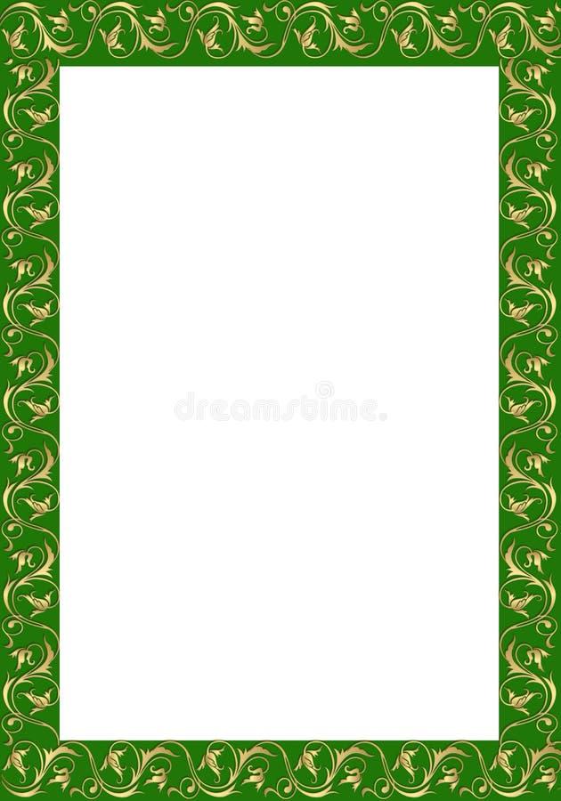 Złocisty rocznik granicy ornament ilustracji
