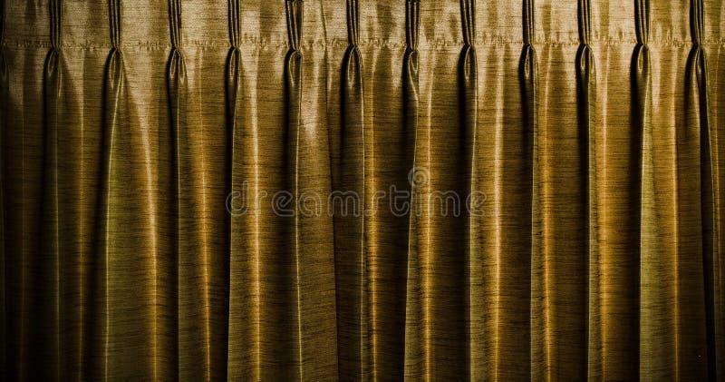 Złocisty rocznik zasłoien tło zdjęcie stock