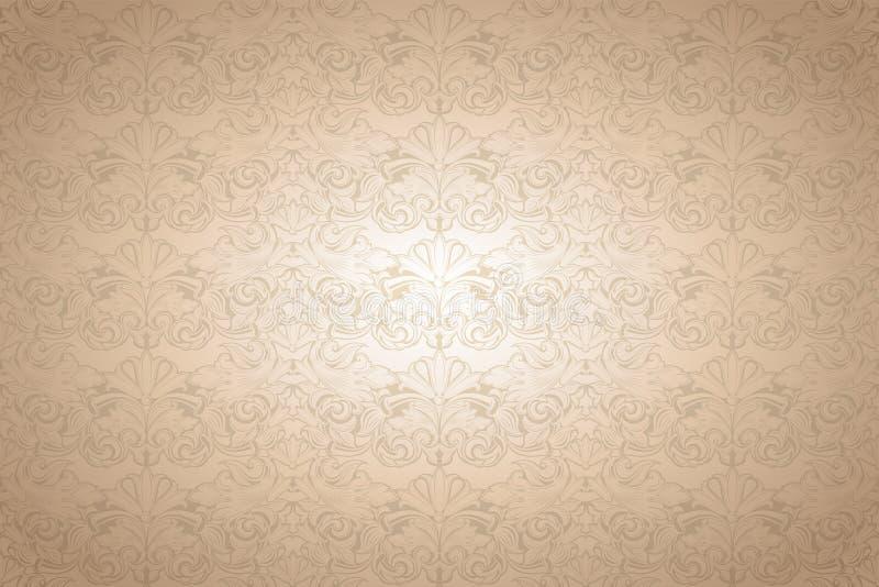 Złocisty rocznika tło, królewski z klasycznym baroku wzorem royalty ilustracja