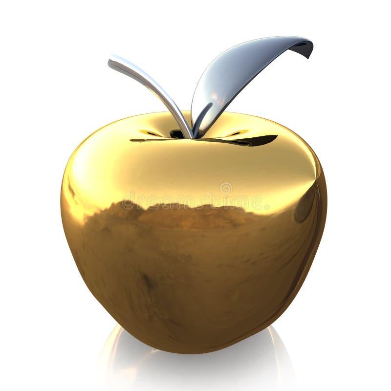 Złocisty szklany jabłko ilustracji