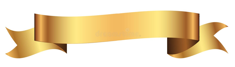 Złocisty sztandar dla projekta w wektorze ilustracja wektor