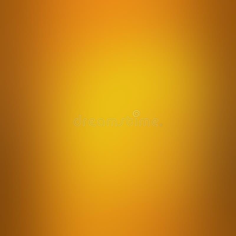 Złocisty tło z pomarańcze granicą i miękkim ładnym plama projektem, złoty graficznej sztuki układ ilustracji