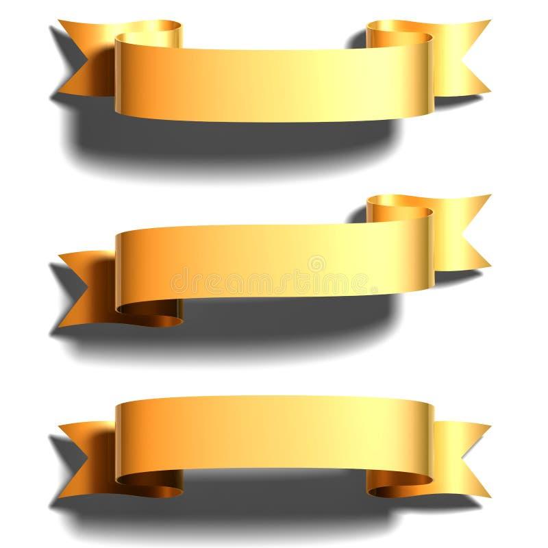 złocisty tasiemkowy błyszczący royalty ilustracja