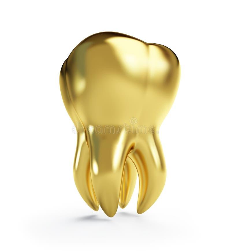 złocisty ząb royalty ilustracja