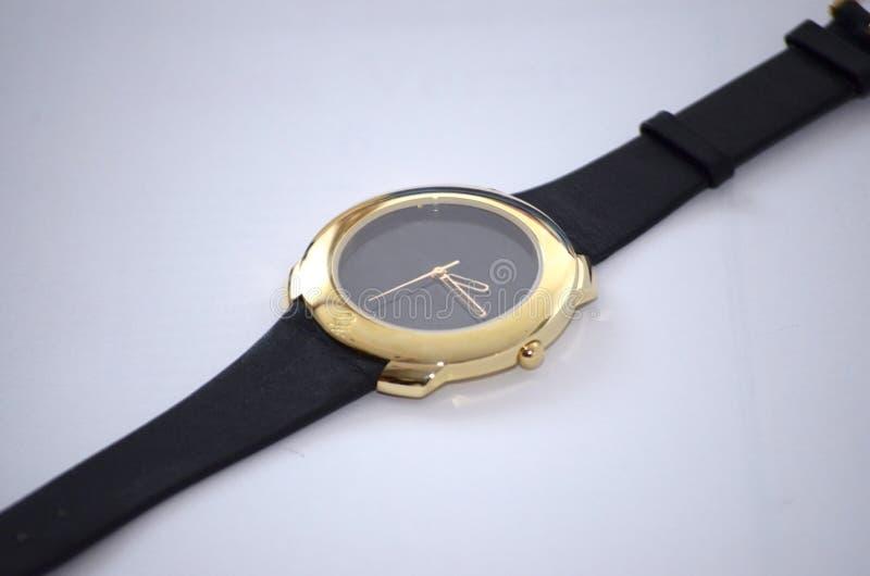 Złocisty zegarek dla kobiet zdjęcie stock