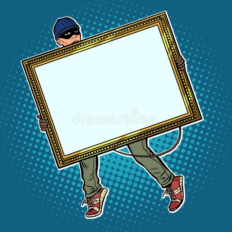 Złodziej kraść obraz royalty ilustracja
