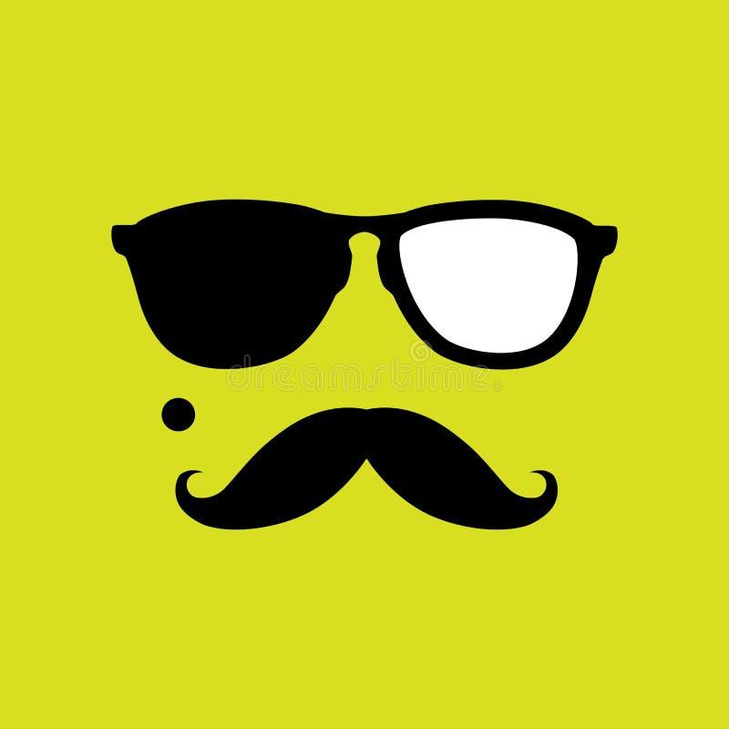 Złodziej lub włamywacz z starego stylu wąsy, okulary przeciwsłoneczni wektorowi ilustracji