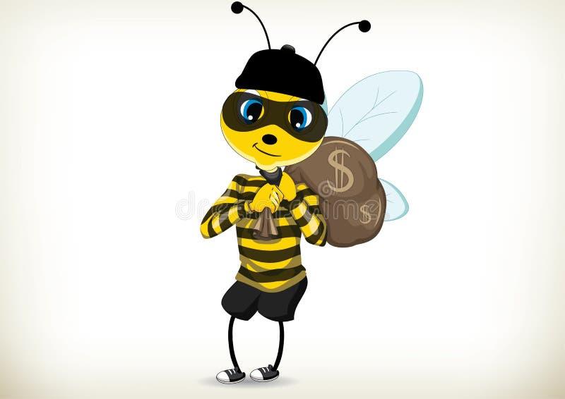 Złodziej pszczoła ilustracji