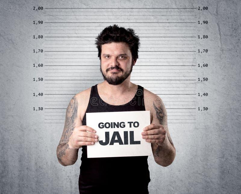 Złodziej w więzieniu fotografia stock