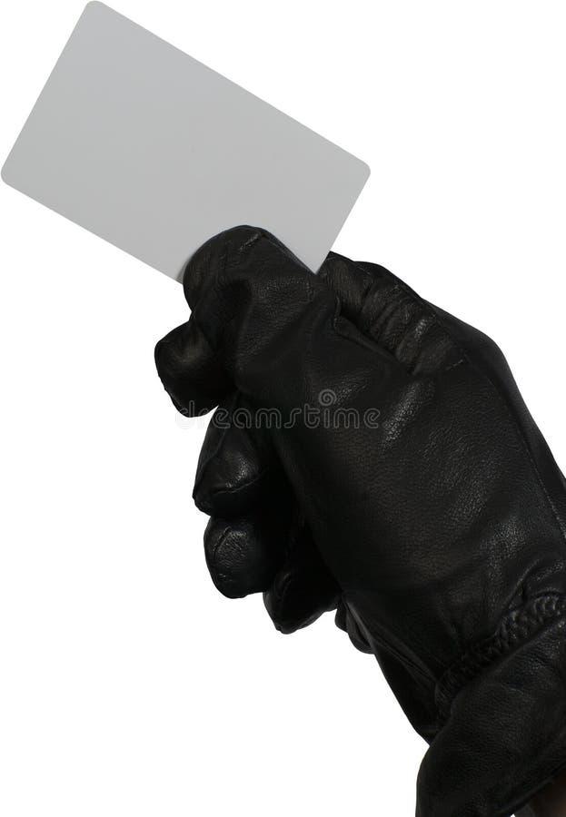 Złodziej z białą kredytową kartą obrazy royalty free